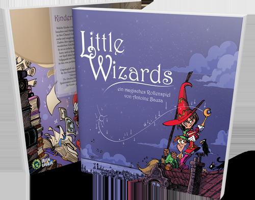 Little Wizards Buchcover vorne und hinten stehend