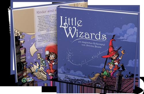 Little Wizards Grundregelwerk Hardcover Buch vorne + hinten